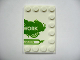 Part No: 6180pb029R  Name: Tile, Modified 4 x 6 with Studs on Edges with 'My Lego Network' Right Half Pattern
