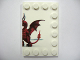 Part No: 6180pb030R  Name: Tile, Modified 4 x 6 with Studs on Edges with Dragon and Knight Right Half Pattern