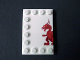 Part No: 6180pb059L  Name: Tile, Modified 4 x 6 with Studs on Edges with Dragon Left Half Pattern