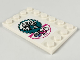 Part No: 6180pb128L  Name: Tile, Modified 4 x 6 with Studs on Edges with Chinese Logogram '美味至上' (Delicious, Be First) Pattern Model Left Side (Sticker) - Set 80009