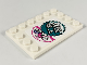 Part No: 6180pb128R  Name: Tile, Modified 4 x 6 with Studs on Edges with Chinese Logogram '美味至上' (Delicious, Be First) Pattern Model Right Side (Sticker) - Set 80009