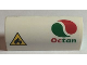 Part No: 6191pb011  Name: Slope, Curved 1 x 4 x 1 1/3 with Flammable Danger Sign and Octan Logo Pattern (Sticker) - Set 60022