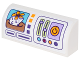 Part No: 6191pb016  Name: Brick, Modified 1 x 4 x 1 1/3 No Studs, Curved Top with Printer Display with Portrait of Cat, Buttons and Slides Pattern (Sticker) - Set 41305