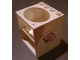 Part No: 6197pb01  Name: Cupboard 4 x 4 x 4 with Elliptical Hole for Sink with Toilet Paper Pattern (Sticker) - Set 5895