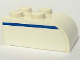 Part No: 6215pb01L  Name: Brick, Modified 2 x 3 with Curved Top with Blue Line Left Pattern (Sticker) - Set 1376