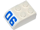 Part No: 6215pb03  Name: Brick, Modified 2 x 3 with Curved Top with Blue Number '06' Pattern (Sticker) - Set 60046