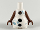 Part No: 62373pb01c01  Name: Snowman Body with Black Buttons and Metallic Blue Snowflakes Pattern, Reddish Brown Arms with Hands