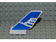 Part No: 6239pb011  Name: Tail Shuttle with White Airline Bird on Blue Background Pattern on Both Sides (Stickers) - Set 2928