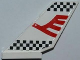 Part No: 6239pb034  Name: Tail Shuttle with Red Airline Bird and Black Checkered Pattern on Both Sides (Stickers) - Set 7643