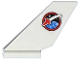 Part No: 6239pb056  Name: Tail Shuttle with Space Shuttle Logo on Clear Background Pattern on Both Sides (Stickers) - Set 60078