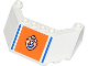 Part No: 62576pb02  Name: Windscreen 5 x 8 x 2 with Blue Lines and Coast Guard Logo on Orange Background Pattern (Sticker) - Set 60014
