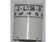 Part No: 6259pb016  Name: Cylinder Half 2 x 4 x 4 with 'J-L336-8' and 5 Logos Pattern (Sticker) - Set 3368