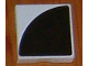 Part No: 6309p04  Name: Duplo Tile 2 x 2 with Shape Black Quarter Disc Pattern