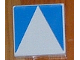 Part No: 6309p0a  Name: Duplo Tile 2 x 2 with Shape Blue Inverse Isosceles Triangle Pattern