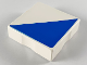 Part No: 6309p0b  Name: Duplo Tile 2 x 2 with Shape Blue Right Triangle Pattern