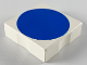 Part No: 6309p0e  Name: Duplo Tile 2 x 2 with Shape Blue Disc Pattern