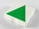 Part No: 6309p0h  Name: Duplo Tile 2 x 2 with Shape Green Isosceles Triangle Pattern