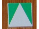Part No: 6309p0j  Name: Duplo Tile 2 x 2 with Shape Green Inverse Isosceles Triangle Pattern