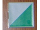 Part No: 6309p0k  Name: Duplo Tile 2 x 2 with Shape Green Right Triangle Pattern