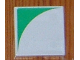 Part No: 6309p0n  Name: Duplo Tile 2 x 2 with Shape Green Inverse Quarter Disc Pattern Pattern