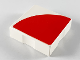 Part No: 6309p0w  Name: Duplo Tile 2 x 2 with Shape Red Quarter Disc Pattern