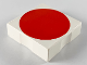 Part No: 6309p0y  Name: Duplo Tile 2 x 2 with Shape Red Disc Pattern