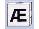 Part No: 6309pb087  Name: Duplo Tile 2 x 2 with Capital Æ Pattern