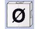 Part No: 6309pb089  Name: Duplo Tile 2 x 2 with Capital Ø Pattern