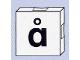 Part No: 6309pb092  Name: Duplo Tile 2 x 2 with Lowercase å Pattern