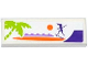 Part No: 63864pb043  Name: Tile 1 x 3 with Palm Tree, Sun, Female Skateboarder Silhouette and Ramp Pattern (Sticker) - Set 41099