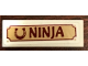 Part No: 63864pb082  Name: Tile 1 x 3 with Horseshoe and 'NINJA' Pattern (Sticker) - Set 41126