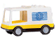 Part No: 6416c02pb01  Name: Duplo Van Type 1 with Yellow Base and EMT Star of Life Pattern (Ambulance)