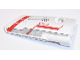 Part No: 64391pb028  Name: Technic, Panel Fairing # 4 Small Smooth Long, Side B with Red 'EV3' and Light Bluish Gray and Red Stripes Pattern (Sticker) - Set 31313
