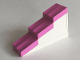 Part No: 6465c01  Name: Duplo Roofpiece Slope 17 2 x 6 Stepped with Dark Pink Shingles