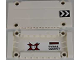 Part No: 64782pb014R  Name: Technic, Panel Plate 5 x 11 x 1 with Chevrons on Outside Right and World Racers Team Extreme Logo and 'CROZZ COUNTRY' on Inside Pattern (Sticker) - Set 8864