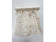 Part No: 6483pb03  Name: Duplo Furniture Curtain Plate 2 x 6 with White Cloth Curtains with Red, Blue, Yellow and Lime Flowers Pattern