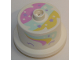 Part No: 65157pb02  Name: Duplo Food Cake with Rainbow Frosting and Stars Pattern