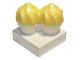 Part No: 65188c01  Name: Duplo Food 2 Cupcakes with Bright Light Yellow Swirl Icing