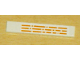 Part No: 6636pb007  Name: Tile 1 x 6 with Orange Broken Lines Pattern (Sticker) - Set 10129