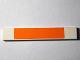 Part No: 6636pb099  Name: Tile 1 x 6 with Orange Stripe Pattern (Sticker) - Set 10129