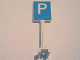 Part No: 675px1  Name: Road Sign Square-Tall with Parking 'P' Pattern