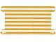 Part No: 68061  Name: Cloth Hammock 12 5/8 x 6 1/2 with Bright Light Orange Stripes Pattern