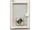 Part No: 73436c01pb05  Name: Door 1 x 4 x 5 Left with Trans-Clear Glass and Bill & Coins Pattern (Sticker) - Set 1490
