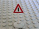 Part No: 747p01c01  Name: Road Sign with Post, Triangle with Generic Warning Pattern, Type 1 Base