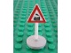 Part No: 747pb03c02R  Name: Road Sign with Post, Triangle with Train Engine Traveling Right Pattern, Type 2 Base