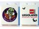 Part No: 76371pb021  Name: Duplo, Brick 1 x 2 x 2 with Bottom Tube with Halloween 2015 Brick or Treat Frankenstein Legoland Florida Pattern