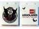 Part No: 76371pb022  Name: Duplo, Brick 1 x 2 x 2 with Bottom Tube with Halloween 2015 Brick or Treat Vampire Legoland Florida Pattern