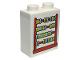 Part No: 76371pb223  Name: Duplo, Brick 1 x 2 x 2 with Bottom Tube with Abacus Pattern