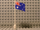 Part No: 777px13  Name: Flag on Flagpole, Wave with Australia Pattern