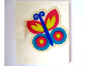 Part No: 838pb08  Name: Homemaker Cupboard Door 4 x 4 with Butterfly Pattern (Sticker) - Set 292